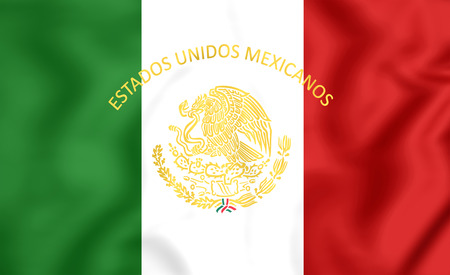 presidential: 3D Mexican Presidential Standard. Close Up. Front View.