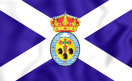 santa cruz: 3D Flag of Santa Cruz de Tenerife Province, Spain.