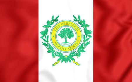 north carolina: 3D Flag of Raleigh (North Carolina), USA.