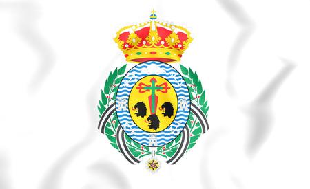 santa cruz de tenerife: 3D Flag of Santa Cruz de Tenerife City, Spain.