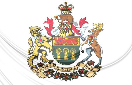 regina: Saskatoon Coat of Arms, Canada. Close Up.