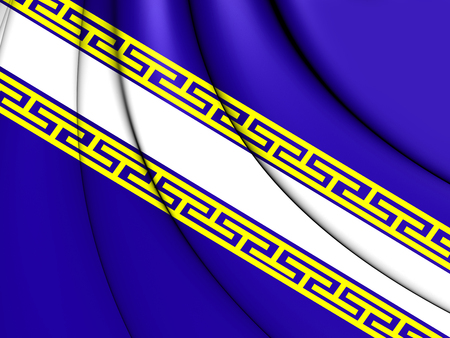 former: 3D Flag of Champagne (historical province), France. Stock Photo