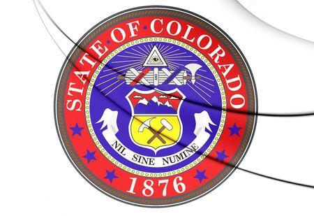 colorado: State Seal of Colorado, USA. Close Up.