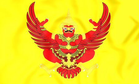 ix: 3D Kings Standard of the Thailand. Close Up.