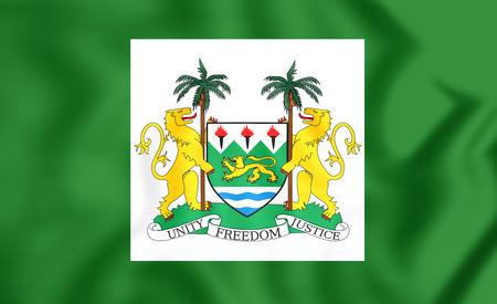 presidental: 3D President Standard of Sierra Leone. Close Up.