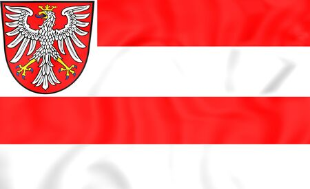 frankfurt: 3D Flag of Frankfurt am Main, Germany. Stock Photo