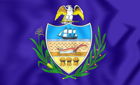 allegheny: 3D Flag of Allegheny County (Pennsylvania), USA. Stock Photo