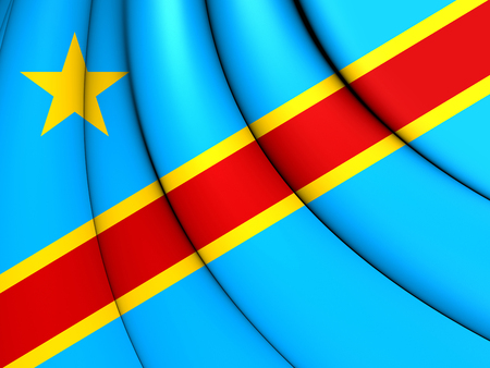 democratic: 3D Democratic Republic of the Congo Flag. Stock Photo