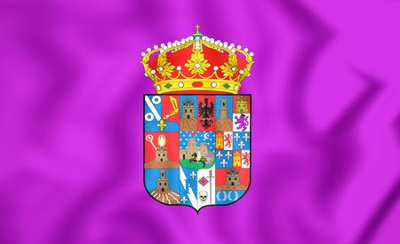 castilla: 3D Flag of Guadalajara Province, Spain. Close Up.