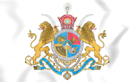 dynasty: 3D Imperial Coat of Arms of Iran.