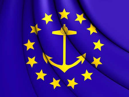 new england: 3D Flag of Rhode Island (1882-1897).
