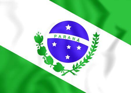 3d flag: 3D Flag of Parana, Brazil. Close Up.