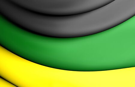 rsa: 3D Flag of the African National Congress.