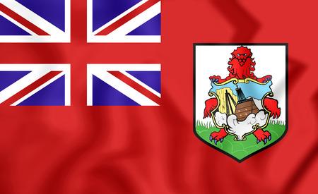 brutish: 3D Flag of the Bermuda. Close Up.