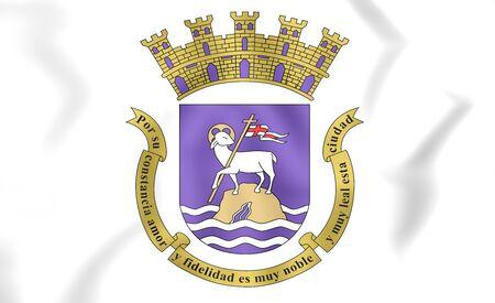 san juan: 3D Flag of San Juan, Puerto Rico.