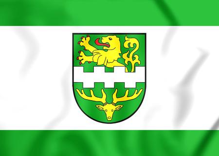 north rhine westphalia: 3D Flag of Bergisch Gladbach (North Rhine-Westphalia), Germany.