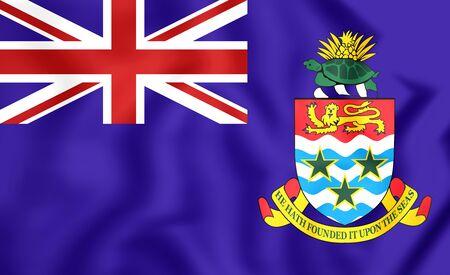 cayman islands: 3D Flag of Cayman Islands. Close Up.