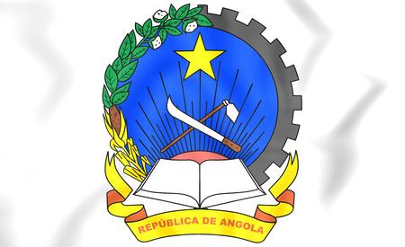 ngola: 3D Angola Coat of Arms. Close Up.
