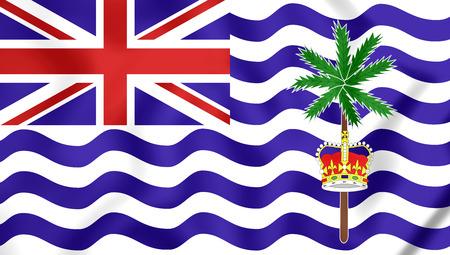 overseas: 3D Flag of British Indian Ocean Territory.