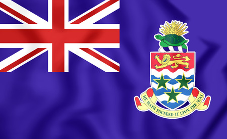 cayman islands: 3D Flag of Cayman Islands. Close Up.
