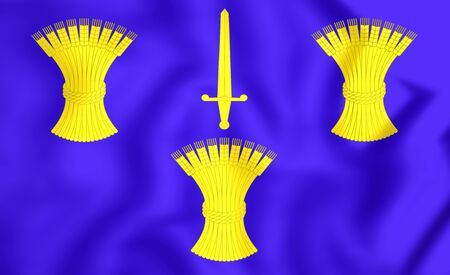 chester: 3D Flag of Cheshire County, England. Close Up.
