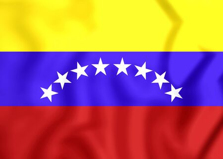 close up: 3D Civil Ensign of Venezuela. Close Up. Stock Photo