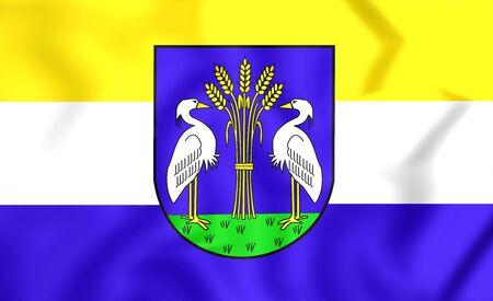 noord: 3D Flag of Heerhugowaard (North Holland), Netherlands.