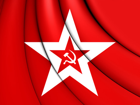 naval: 3D Naval Jack of the Soviet Union. Stock Photo