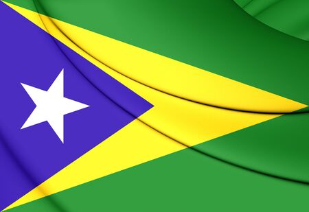 puerto rico: 3D Flag of Aguas Buenas, Puerto Rico.