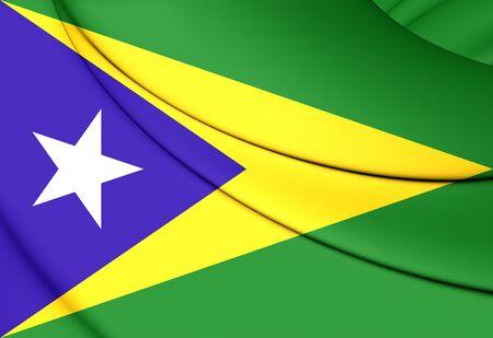 bandera de puerto rico: Indicador 3D de Aguas Buenas, Puerto Rico. Foto de archivo