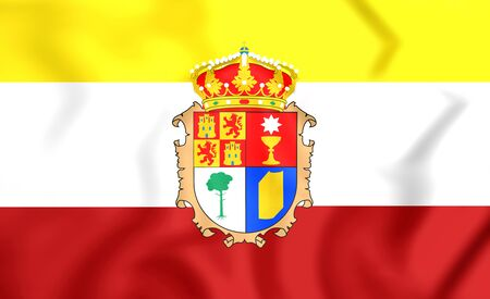 flag spain: 3D Province of Cuenca Flag, Spain. Close Up.