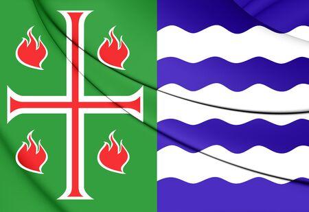 bandera de puerto rico: Bandera 3D del Municipio de Mayagüez, Puerto Rico. Foto de archivo