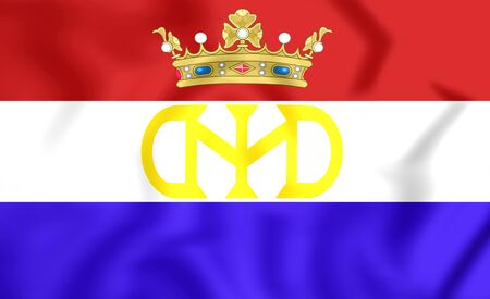 dutch: 3D Flag of Dutch BrazilNew Holland (1581-1654).