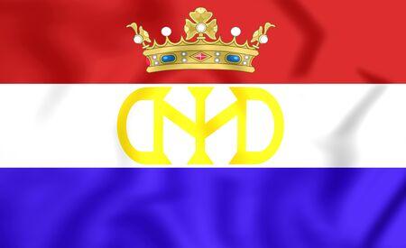 3D Vlag van Nederlands-Brazilië  New Holland (1581-1654).