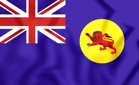 protectorate: 3D Flag of North Borneo. Close Up.