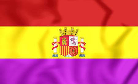spanish flag: 3D Flag of the Second Spanish Republic.