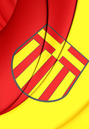 north rhine westphalia: 3D Flag of Paderborn (North Rhine-Westphalia), Germany.