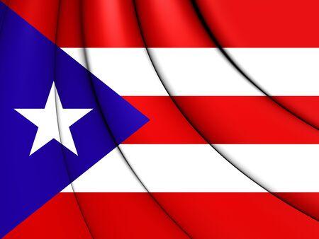 bandera de puerto rico: Indicador 3D de la Puerto Rico. De cerca.