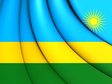 3d flag: 3D Flag of the Rwanda. Close Up.