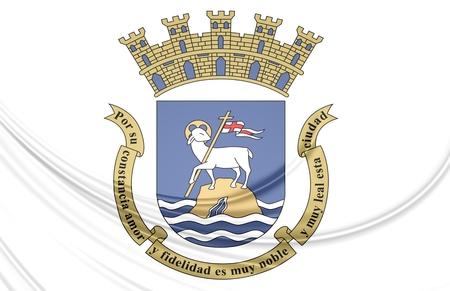 puerto rico: 3D Flag of San Juan, Puerto Rico.
