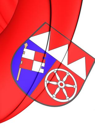 lower: 3D Flag of Lower Franconia (Unterfranken), Germany.
