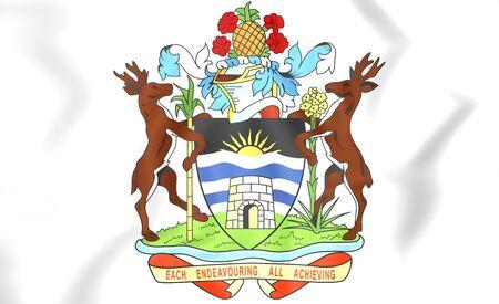 antigua and barbuda: 3D Antigua and Barbuda Coat of Arms.