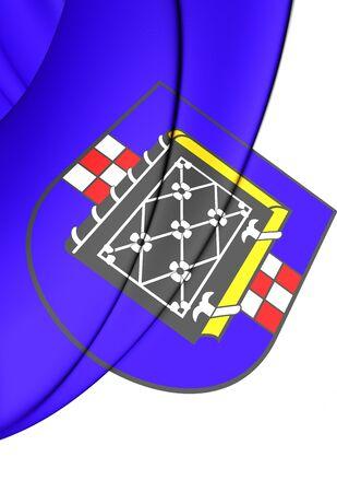 north rhine westphalia: 3D Flag of Bochum (North Rhine-Westphalia), Germany.