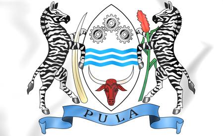 botswana: 3D Botswana Coat of Arms. Close Up.