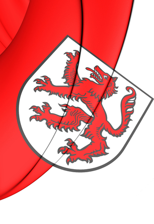 bavaria: 3D Flag of Passau City (Bavaria), Germany. Stock Photo