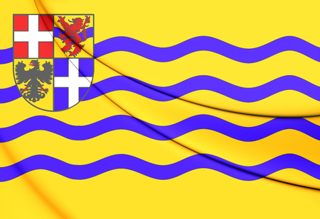 dominion: 3D Flag of Salland, Netherlands. Close Up.