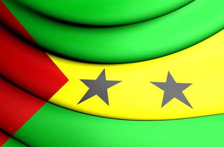 tome: 3D Flag of the Sao Tome and Principe.