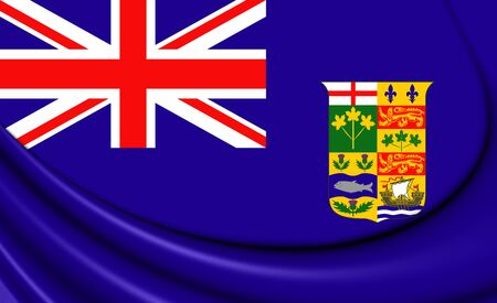 ensign: 3D Canadian Blue Ensign (1868-1921). Close Up. Stock Photo