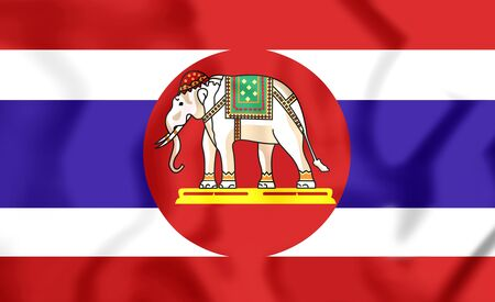 ensign: 3D Naval Ensign of Thailand. Close Up.