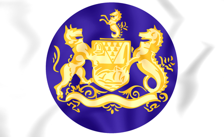 northern ireland: 3D Belfast Coat of Arms, Northern Ireland. Stock Photo